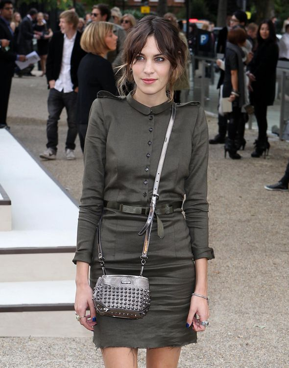 Celebrities arrive at the Burberry London Fashion Week show, London