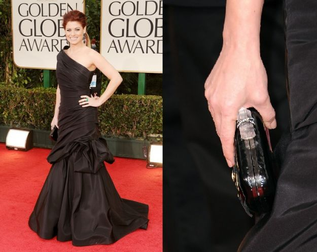 debra messing golden globes 2012 look