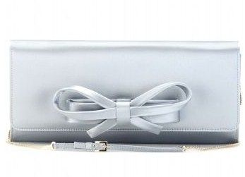 valentino bow clutch satin