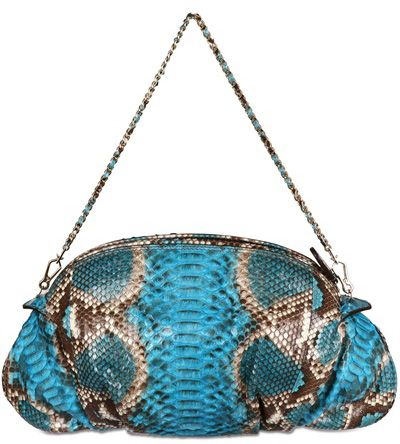 zagliani new greta python shoulder bag