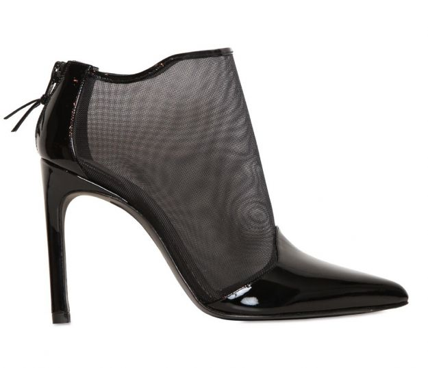 Ankle boots effetto mesh