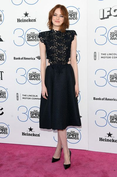 Emma Stone In Monique Lhuillier