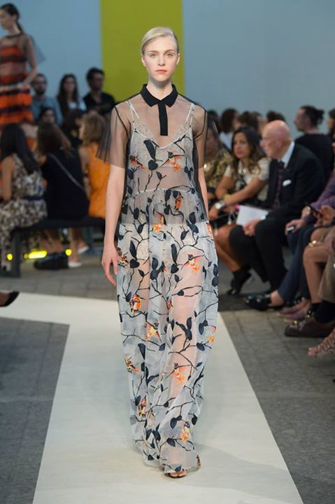 Long dress con fiori