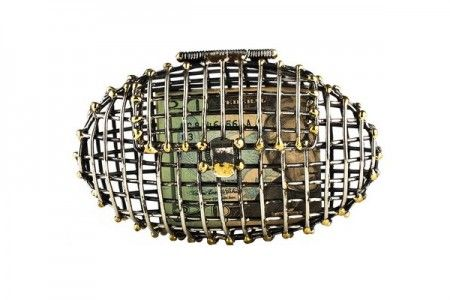 Metal Cage Clutches by Anndra Neen ovale