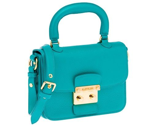 Miu Miu Madras Bag 2012 turchese