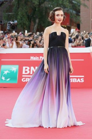Lily Collins In Elie Saab