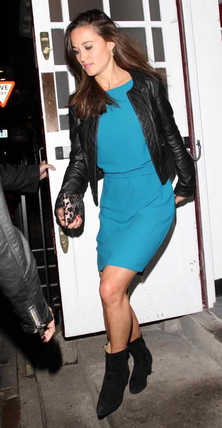 Pippa Middletonesce dal  Members Only Club di Londra