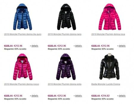 moncler originali outlet online
