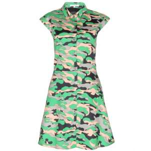 Carven, abito chemisier camouflage