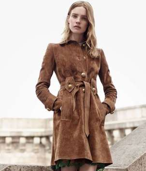 Trench in suede