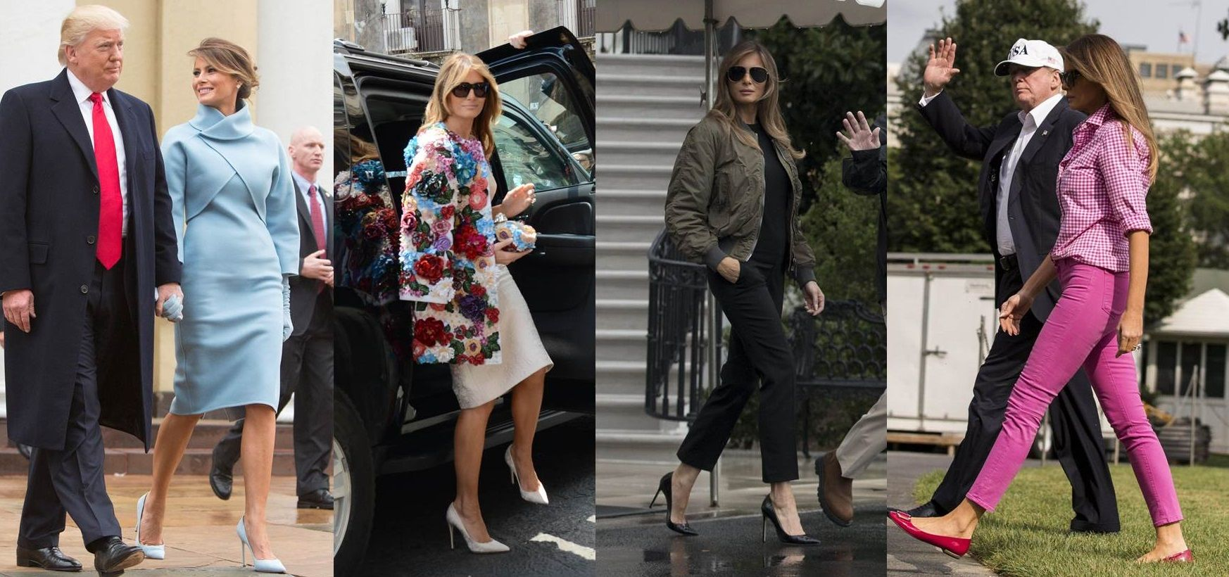 In Melania shoes vip style