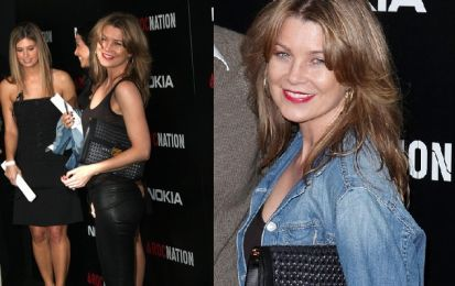 Borse Stella McCartney: Ellen Pompeo con la Woven clutch in ecopelle