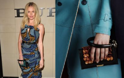 Kate Bosworth al lancio di Burberry Body con una favolosa pochette della Resort 2012