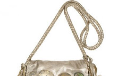 Borse Ralph Lauren Collection: Embellished fringed leather shoulder bag