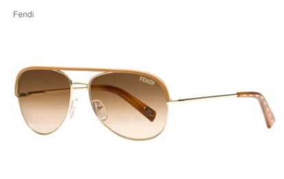 Occhiali Fendi: i sunglasses aviator gold style