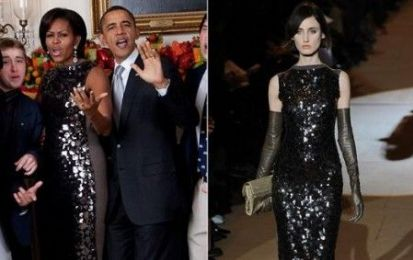 Abito Marc Jacobs con paillettes per Michelle Obama