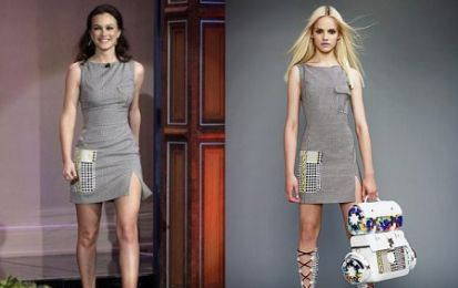 Versace, l'abito di Leighton Meester al Tonight Show with Jay Leno
