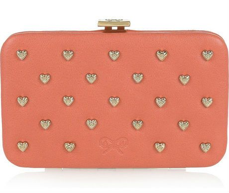 ANYA HINDMARCH Miami heart studded leather cardholder