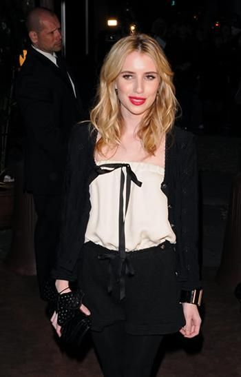 Emma Roberts Chanel Butterfly Clutch