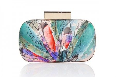 Matthew Williamson Blush Multicolor Round Hard Clutch