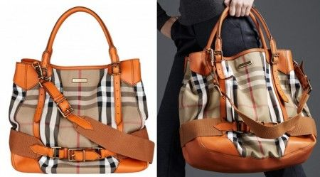 burberry prorsum vintage house check tote tangerine