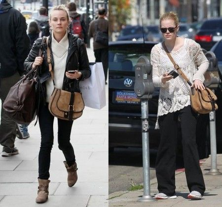 diane kruger emma stone salvatore ferragamo saddle bag