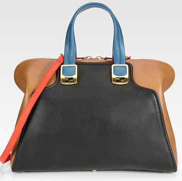 fendi color block tote