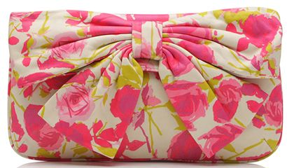 lulu guinness floral bow leather leona clutch