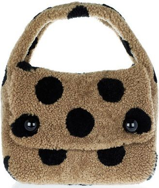 marc jacobs spotted teddies shearling hobo bag