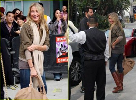 Cameron Diaz Romeo bag Jimmy Choo