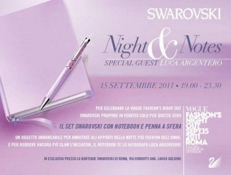 Swarovski alla Vogue fashions night out 2011 di Roma