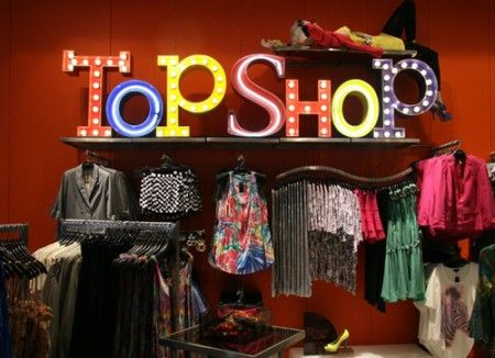 temporary store topshop