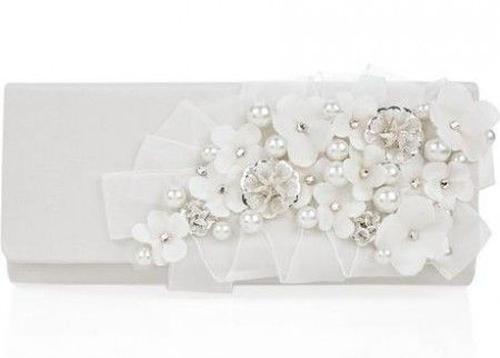 Oscar de la Renta Silk embroidered clutch