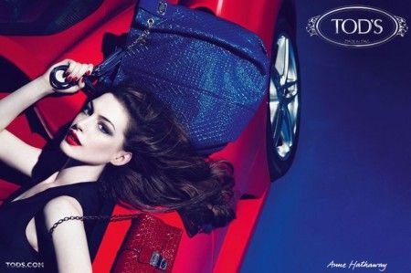 anne hathaway tods ad campaign