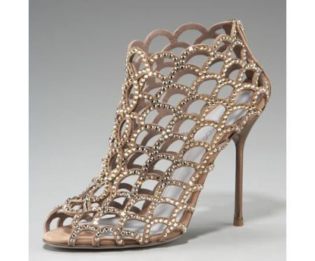 crystal cage booties