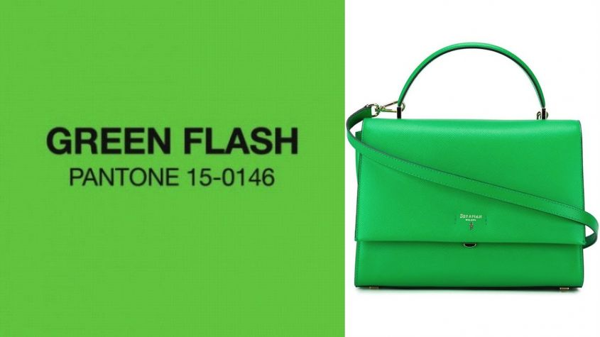 Handbag in Green Flash Serapian