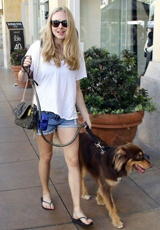 amanda seyfried and coach bag boucle