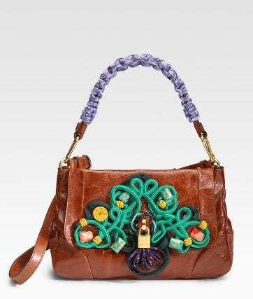 Fluo Passamentry Orchid Bag