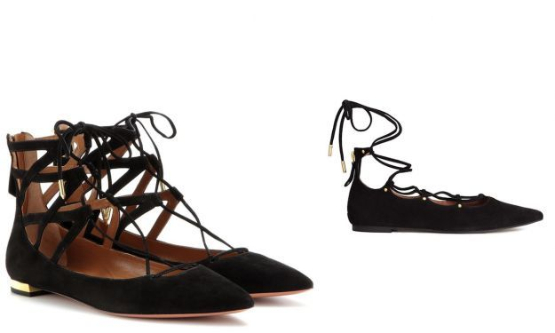Ballerine lace up Aquazzura e HM