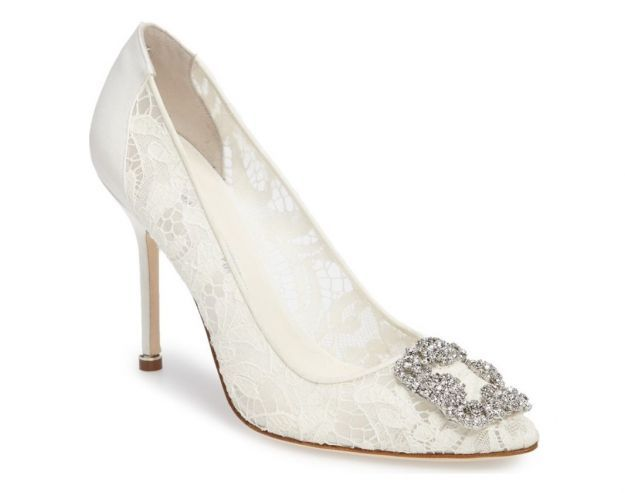Pumps Hangisi in pizzo Manolo Blahnik