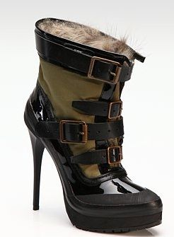 burberry ankle boot vernice
