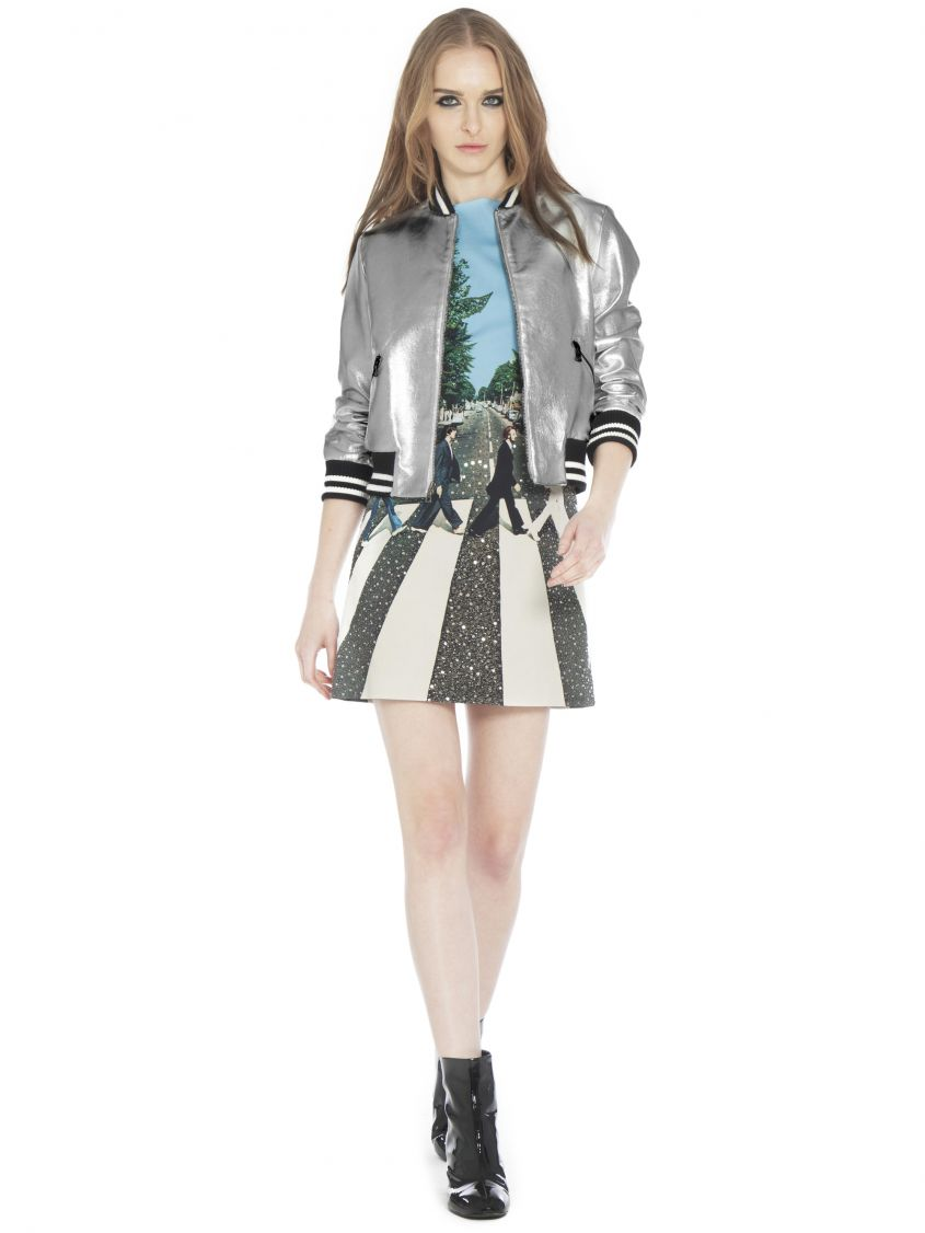 Bomber argento Alice and Olivia