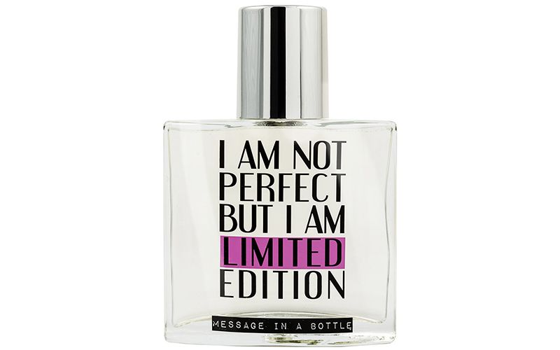 I am not perfect but I am a limited edition Message in a Bottle profumo
