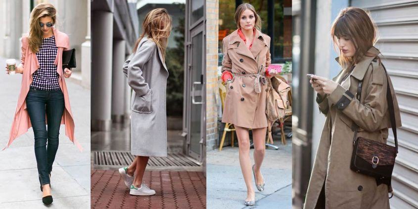 Look fashion con trench