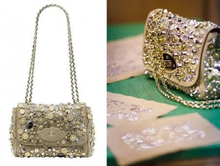 Mulberry Jeweled Lily Bag