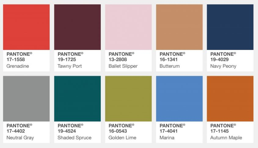 Pantone Color Palette for New York