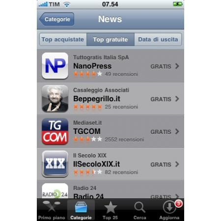 Nanopress su iPhone
