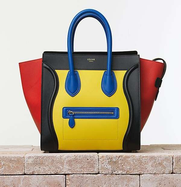 Luggage bag in color block
