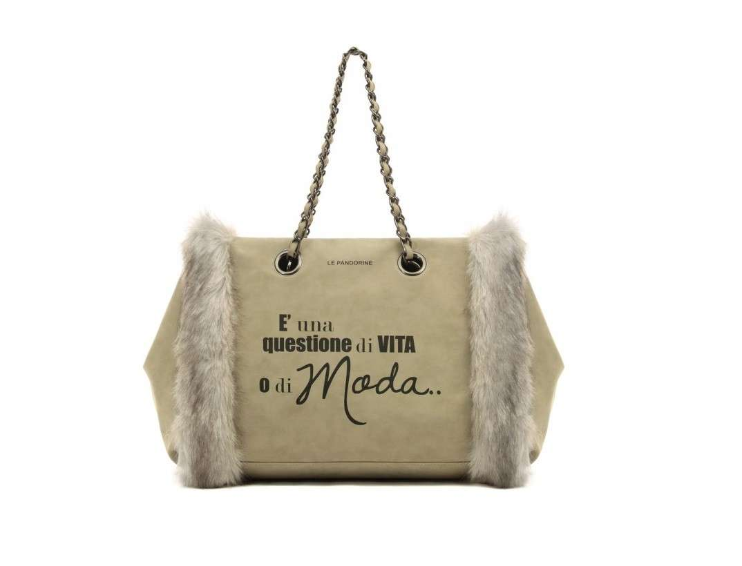 Fur bag beige