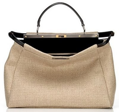 Fendi, Peekaboo in canvas e pelle